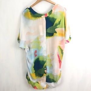 NEW Melissa McCarthy Seven Watercolor Top XL